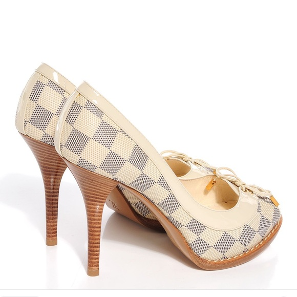 439e014509b Louis Vuitton Shoes - Louis Vuitton Damier Azur Palm Beach Heel